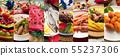 italian gastronomy collage background 55237306