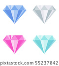Diamond color icon. Flat vector style illustration 55237842