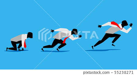 businessman running 55238271