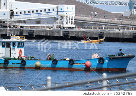 Small fishing boat at Yokohama Port 55242768