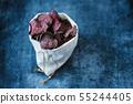 vegetarian pile of healthy beet chips Purple Baked 55244405