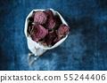 vegetarian pile of healthy beet chips Purple Baked 55244406