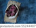 vegetarian pile of healthy beet chips Purple Baked 55244407