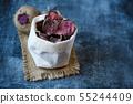 vegetarian pile of healthy beet chips Purple Baked 55244409