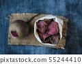 vegetarian pile of healthy beet chips Purple Baked 55244410