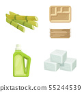 Isolated object of sugarcane and cane symbol. Collection of sugarcane and field vector icon for 55244539