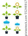 Sprout vector illustrations 55246917