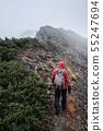 Mountainous landscape (bad weather) 55247694