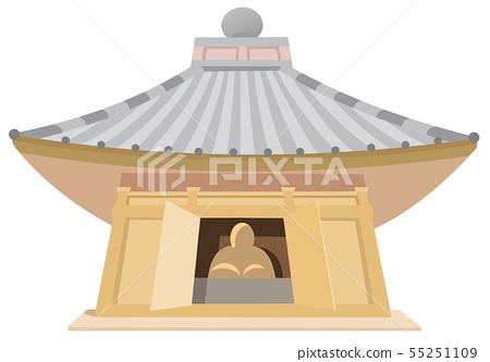 Hiraizumi tourist destination illustration icon series 55251109
