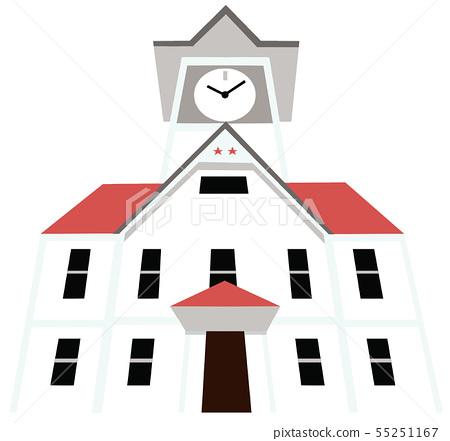Clock tower tourist destination illustration icon series 55251167