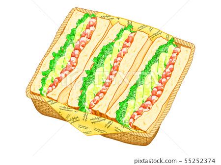 아보카도와 새우 샌드위치 55252374
