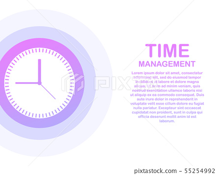 Time Management Banner With Character And Text Stock Illustration 55254992 Pixta
