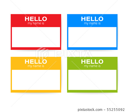"""""""Hello My Name Is..."""" Name Tag Set. Label sticker 55255092"""