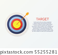 Target with an arrow flat icon concept market goal 55255281