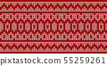 seamless red and white knitted background 55259261