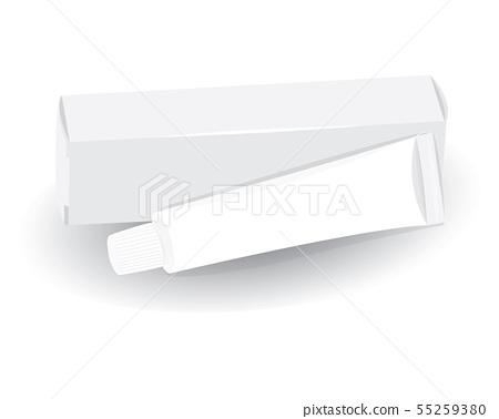 White Toothbrush Box Vector Design Stock Illustration 55259380 Pixta