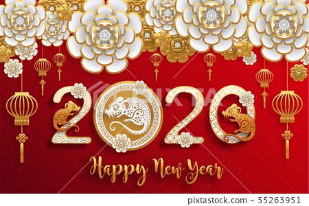 Chinese new year 2020. 55263951