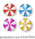 Vector set of colorful umbrellas with shadows 55267844
