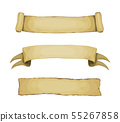 Set of cartoon vector medieval banners and scrolls 55267858