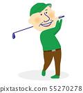 시니어 남자 골프 스윙 55270278