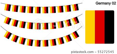 독일 국기의 가라ン도 벡터 데이터 (bunting garland) 55272545