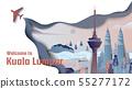 Famous places in Kuala Lumpur, Malaysia 55277172