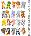 Collection of happy animal go to school 55278028