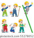 Construction Worker People cartoon character 55278052