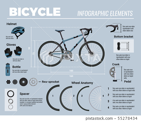 Bicycle Infographic Elements Composition 55278434