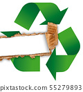 Waste recycling Symbol in white background 55279893
