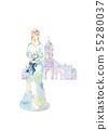 하늘색 드레스와 교회 55280037