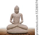 Statue of Buddha in white background 55280074