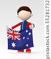 국기를 내거는 호주의 스포츠 선수 55281732