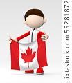 국기를 내거는 캐나다의 스포츠 선수 55281872