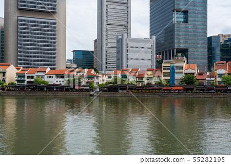 新加坡都市風景船鑰匙 55282195