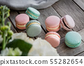 Close up colorful macarons dessert  55282654