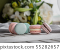 Close up colorful macarons dessert  55282657