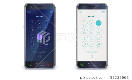 Smartphone, mobile phone isolated on white 55282668