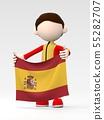 국기를 내거는 스페인 선수 55282707