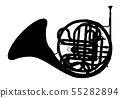 Silhouette of a horn, musical instrument  55282894
