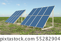 Solar panels in a landscape 55282904
