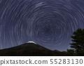 从星山和富士山的静冈县铃木市Mizugatsuka公园 55283130