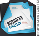 Business strategy vector template. Origami style. 55283442