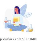 Chemistry Exam Preparation Vector Illustration 55283689