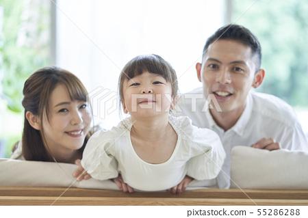가족 작은 아이 55286288