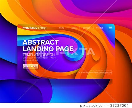 Landing Page Template Design 55287004