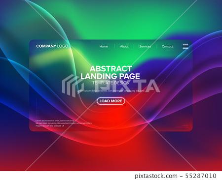 Landing Page Template Design 55287010