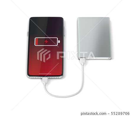 Charging smartphone with a power bank 55289706