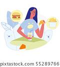 Fastfood Restaurant Order Flat Vector Illustration 55289766
