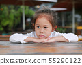Asian little girl expressed disappointment 55290122